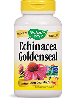echinacea goldenseal: Echinacea- Goldenseal-180 Vegetarian Capsules by Nature's Way