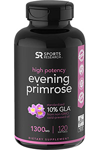 best quality evening primrose oil: Evening Primrose Oil- 120 Liquid Softgels by Sports Research