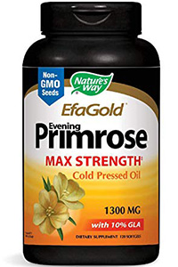 best quality evening primrose oil: EfaGold Evening Primrose- 120 Softgels by Nature's Way
