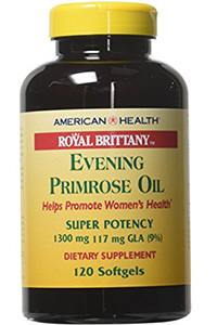 best quality evening primrose oil: Royal Brittany™ Evening Primrose- 240 Softgels (Two Packs) by American Health