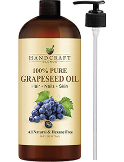 best grapeseed oil: HANDCRAFTS BLENDS - 100% Pure Grapeseed Oil, All Natural Premium Therapeutic Grade