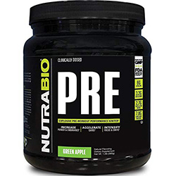 NutraBio PRE Workout V5 - Green Apple