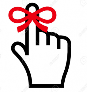 Covid-19 tips: tie a ribbon to your finger